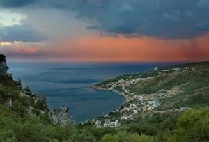 Закат над Черным морем. Симеиз