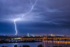 Lightning over the Kyiv