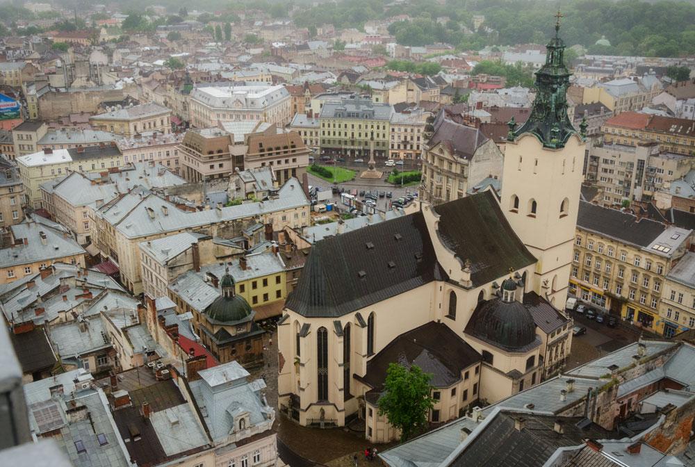 Львов. Вид с городской ратуши