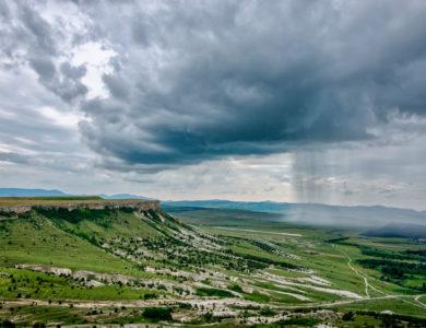 Crimea. Bilohirsk. The White Rock